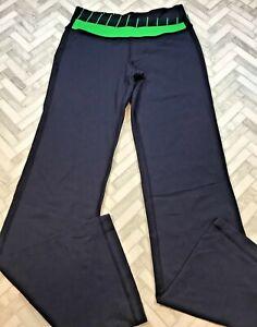 Lululemon Women's Size 6 Small Astro Pant Inkwell Green Bean Slalom Stripe Blue