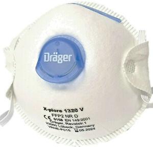 FFP2 Atemschutzmaske Dräger 1320 V Atemschutz Halbmaske 10 Stück Box versiegelt