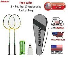 Professional KAWASAKI 2 Player Badminton Racket Combination Package COMBO Set