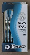 Harrows Aura 23g Steel Tip Darts 95% Tungsten 52632 w/ FREE Shipping