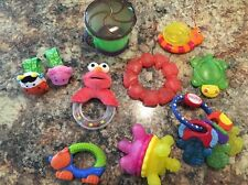 Infant Baby Teether And Rattle Lot Snack Cup Elmo