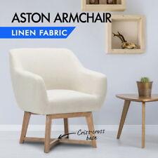 Artiss Aston Tub Accent Chair Armchair Single Sofa Vintage Lounge Fabric Retro O