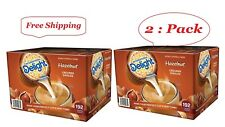 International Delight Hazelnut Coffee Creamer Singles(192 ct.)2pack total 384 ct
