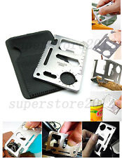 11 in 1 Multi Tools Hunting Survival Camping Pocket Military Credit Card Knife