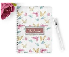 Personalised Notebook Notepad A5 Teacher Gift Planner Wedding Vintage Butterfly