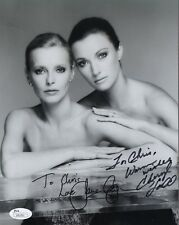 CHERYL LADD+JANE SEYMOUR AUTHENTIC SIGNED 8x10 PHOTO    SEXY     TO CHRIS    JSA