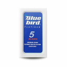 Bluebird Platinum Hi-Stainless %7c Double Edge Razor Blades %7c  Premium Safety DE