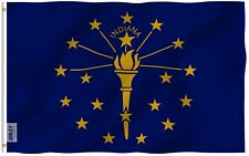 Anley Fly Breeze 3x5 Foot Indiana State Flag Indiana in Flags Polyester 3 X 5 Ft