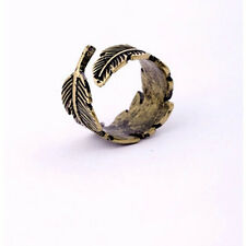 Vintage Feather Ring Hot Sale Jewelry Punk Fashion Sizeable Rings For Women