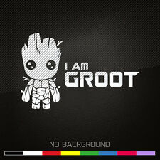 GUARDIANS OF THE GALAXY Decal Sticker | I Am Groot | MARVEL | Choose Color