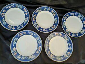 WEDGWOOD BLUE SIAM DESSERT SALAD PLATES  X 5 - 1st quality