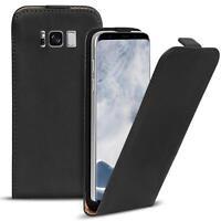Flip Case Samsung Galaxy S8 Hülle Pu Leder Klapphülle Handy Tasche Cover Schwarz