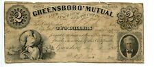 1861. Greensborough, North Carolina $2