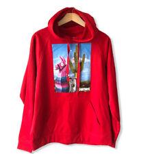 Fortnite Red Graphic Hooded Sweatshirt Sz L