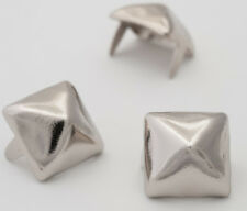 "Silver Pyramid Studs 1/2"" - Bag of 500 (for denim and leather) StudsAndSpikes"