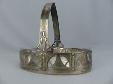 Antique WMF Silver Plated Glass Insert Basket Secessionist Arts & Crafts Design