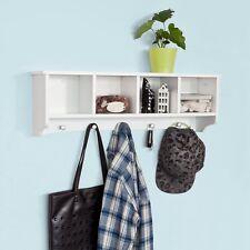 SoBuy® Étagère murale Porte-manteau salle de bain avec 5 crochets , FRG48-L-W FR