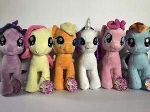 "My Little Pony MLP FiM Aurora 10"" Mane 6 Plush Toy Set Twilight Rarity Applejack"