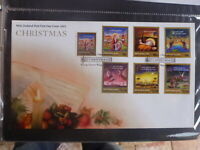 NEW ZEALAND 2001 CHRISTMAS SET 7 STAMPS FDC FIRST DAY COVER