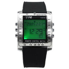 Rectangle Digital Sport Watch Men Rubber Watches Alarm TV DVD Remote Control