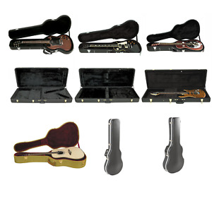 Musician's Gear Electric Guitar Case SG LP ST Archtop Vee EXP Acoustic Tweed ABS