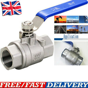 """Blue Lever Arm Stainless Steel Tap Ball Valve 1/4"""" 1/2"""" 3/4"""" 1"""" BSP"""