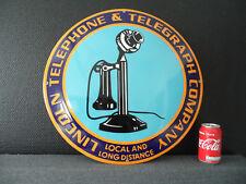 LINCOLN TELEPHONE - HQ Steel - Porcelain / Enamel / Emaille Sign / Sheild # 67