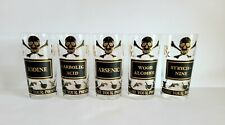 "GEORGES BRIARD ""Name Your Poison"" Vintage Mid Century Highball Glasses Set of 5"