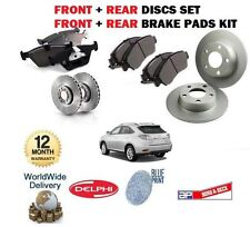 PER LEXUS RX300 RX400H RX350 03> ANT + POST DISCHI FRENO SET+KIT PASTIGLIE DISCO