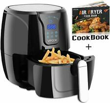 VPCOK Hot Air Fryer Without Oil; LED Touch Display, 2.6 Liter, Black