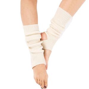 Women Ballet Yoga Knitted Crochet Foot Warm Socks Leg Sports Protective Sleeves