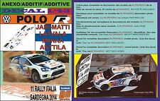 ANEXO DECAL 1/43 VOLKSWAGEN POLO R WRC J-M.LATVALA R.ITALIA 2014 3rd (01)
