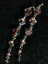 Cache Pink Iridescent Crystal Drop Earrings