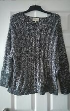 papaya size 14 black white mix medium knit jumper