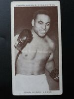 No.24 JOHN HENRY LEWIS - Boxing Personalities by W.A. & A.C. Churchman 1938