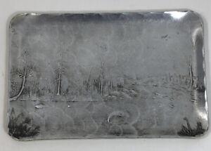 Vintage Wendell August Aluminum Plate Made For Quaker State Motor Oil
