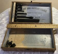 ANTIQUE STODDART BROTHERS FOUNTAIN SYRINGE WOODEN BOX, WITH PIPES, BUFFALO NY