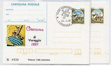 1997 ITALY REPUBBLICA IPZS 2 CARTOLINE POSTALI CARNEVALE DI VIAREGGIO B/6530