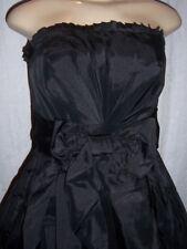 Sweetie Pie black shimmer strapless taffetta teens prom dress Size 10  NWT