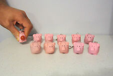 10 NEW NAUGHTY POOPING PIG KEYCHAINS SQUEEZE ANIMALS POOP TURD KEY RING CHAIN