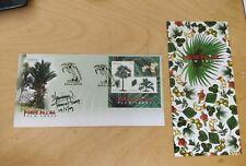 Malaysia 2009 Palm Trees Pokok Palma MS stamp FDC designer autograph signature