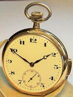 585 14K massiv Gold Herren Taschenuhr HTU seltene Minuten Repetition ca. 1880