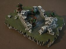 WARGAME Terrain Scenery Destroyed Building on Hill #2 Hand-Crafted Warhammer