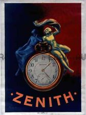 French Zenith watches Horloge poster advertisement 1910s ca 8 x 10 print prent