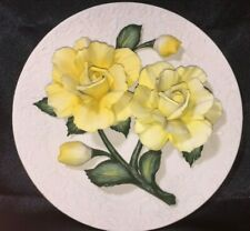 """Franklin Mint """"The Yellow Roses Of Capodimonte"""" Porcelain Plate-Mint Condition"""
