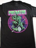 Predator Comic Movie Neon With Skulls T-Shirt