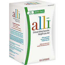 Alli Orlistat 60mg Weight Loss Aid 120 Capsules EXP 08/18