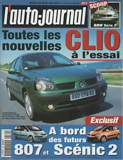 L'AUTO JOURNAL 2001 569 CLIO 1.5 dCi HONDA STREAM 2.0i JAGUAR X-TYPE BMW 330xi