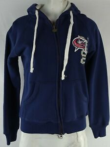 Columbus Blue Jackets Large Women's Navy Full Zip Hooded Sweatshirt NHL