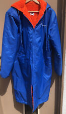 Unisex Size Small Swim Swimmers Long Hooded Parka Jacket Blue/Orange Made in USA